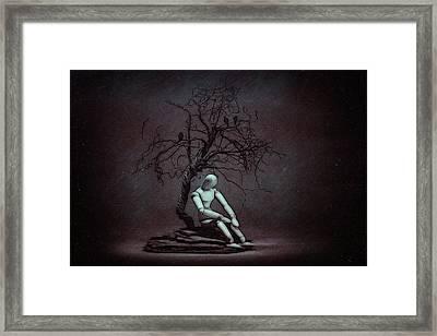 Alone In The Dark Framed Print by Tom Mc Nemar