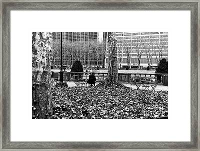 Alone With My Thoughts Mono Framed Print by John Rizzuto