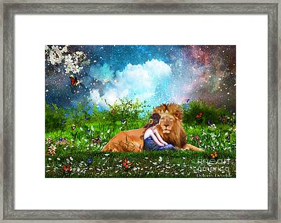 Alone With The King Framed Print by Dolores Develde