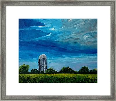 Along A Country Road  Framed Print by Elena Pronina