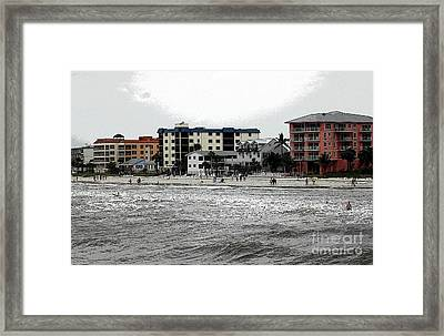 Along The Beach Framed Print by Kathleen Struckle