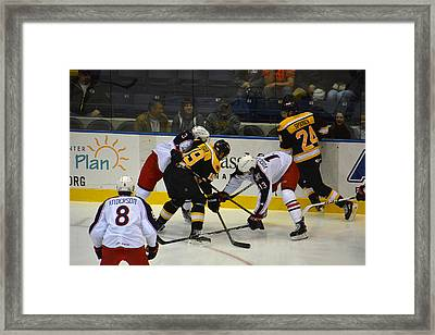Along The Boards Framed Print by Mike Martin