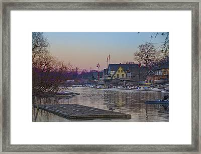 Along The Boathouse Row Framed Print by Bill Cannon