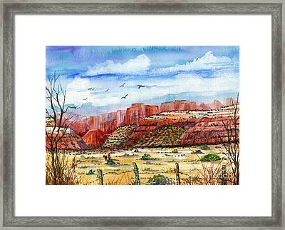 Along The New Mexico Trail Framed Print by Marilyn Smith
