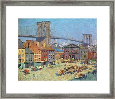 Along The River Front New York Framed Print by Everett Longley Warner