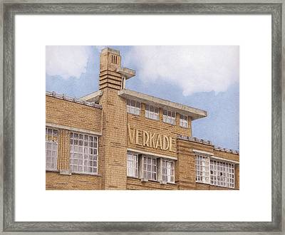 Along The River Zaan Verkade Factory Framed Print by Rob De Vries
