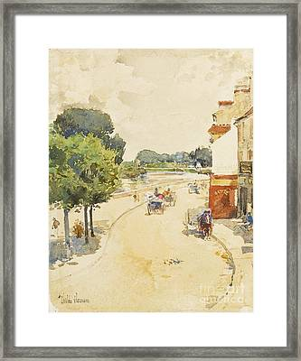 Along The Seine, Bougival Framed Print by Celestial Images