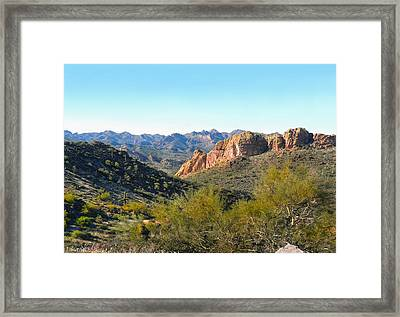 Along The Trail Framed Print by Gordon Beck
