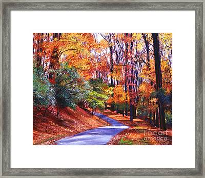 Along The Winding Road Framed Print by David Lloyd Glover