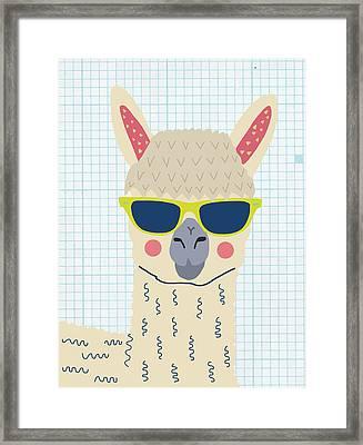 Alpaca Framed Print by Nicole Wilson