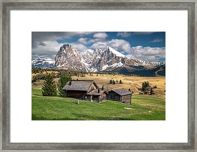 Alpe Di Suisi Cabin Framed Print by James Udall
