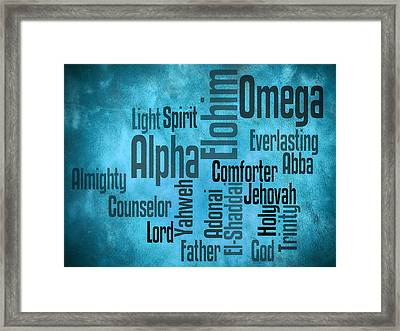 Alpha Framed Print by Angelina Vick