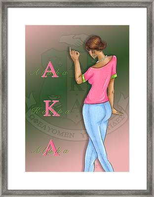 Alpha Kappa Alpha Framed Print by BFly Designs