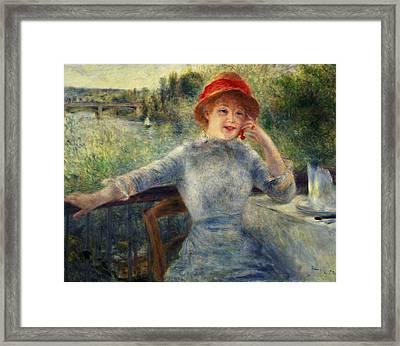 Alphonsine Fournaise Framed Print by Pierre Auguste Renoir