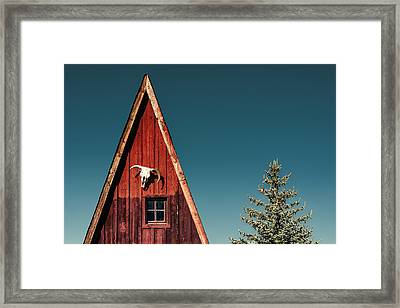 Alpine A-frame Framed Print by Humboldt Street