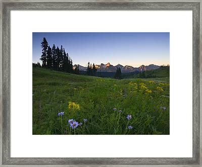 Alpine Dawn Framed Print by Mike  Dawson