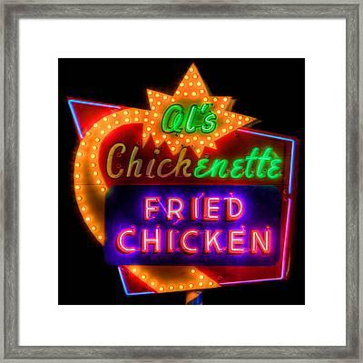 Al's Chickenette Framed Print by Thomas Zimmerman
