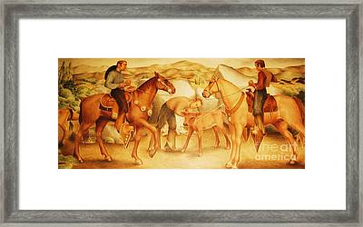 Alta California Rancheros Framed Print by Pg Reproductions