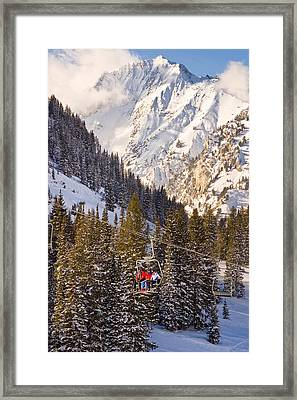 Alta Ski Resort Wasatch Mts Utah Framed Print by Utah Images