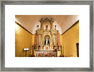 Altar In Santa Catalina Monastery Framed Print by Jess Kraft