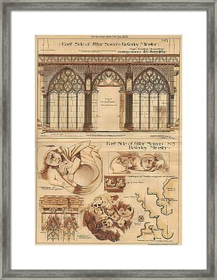 Altar Screen Beverly Minster East Riding Yorkshire England 1883 Framed Print by Gibbons Sankley
