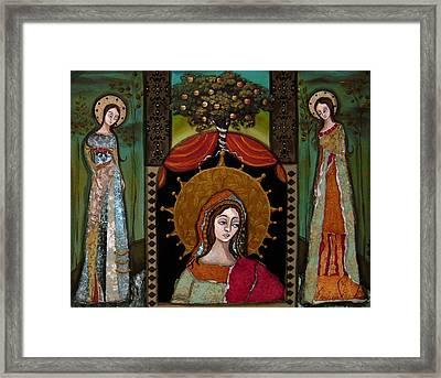 Altar Screen Framed Print by LoriAnn Altered-posh