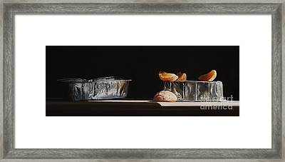 Aluminum With Clementine Framed Print by Larry Preston