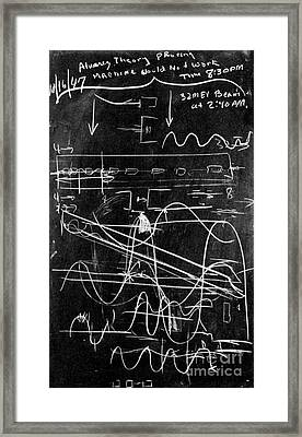 Alvarez Calculation, 1947 Framed Print by Science Source