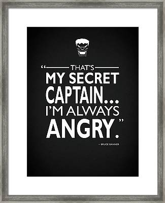 Always Angry Framed Print by Mark Rogan
