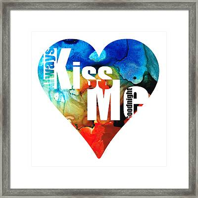 Always Kiss Me Goodnight 6 - Valentine's Day Framed Print by Sharon Cummings