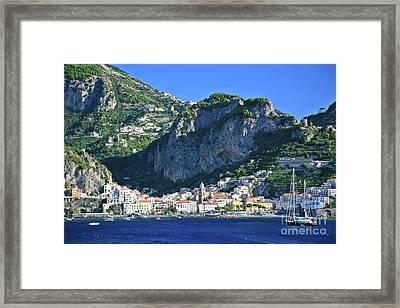 Amalfi Cove Framed Print by Kate McKenna