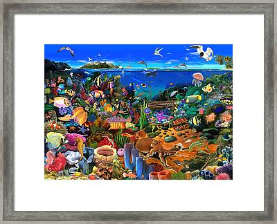Amazing Coral Reef Framed Print by Gerald Newton