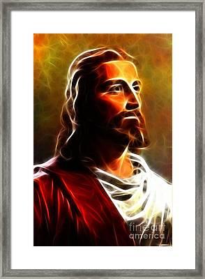Amazing Jesus Portrait Framed Print by Pamela Johnson