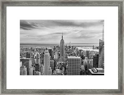 Amazing Manhattan Bw Framed Print by Az Jackson