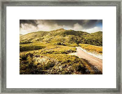 Amazing Mountains Landscape Framed Print by Jorgo Photography - Wall Art Gallery