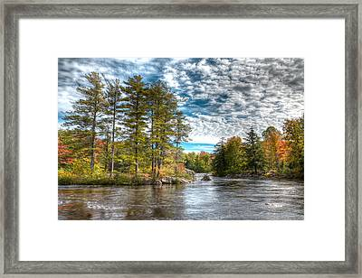 Amazing September Day On The River Framed Print by David Patterson