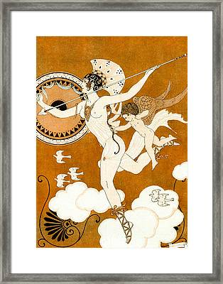 Amazonian Warrior Framed Print by Georges Barbier