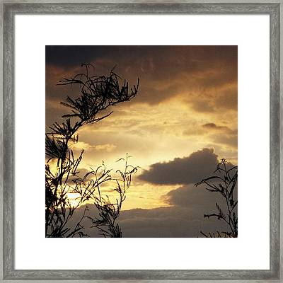 Amber Sky Framed Print by Glenn McCarthy Art and Photography