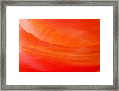 Amber Wave Framed Print by Az Jackson