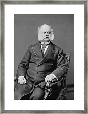 Ambrose Burnside And His Sideburns Framed Print by War Is Hell Store