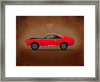 Amc Amx 1970 Framed Print by Mark Rogan