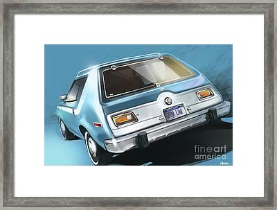 Amc Gremlin Throwback Framed Print by Uli Gonzalez