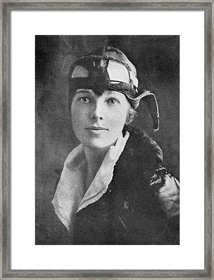 Amelia Earhart, Us Aviation Pioneer Framed Print by Science, Industry & Business Librarynew York Public Library