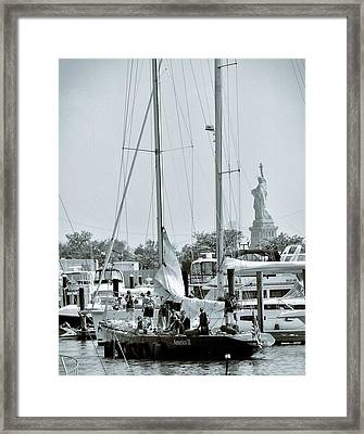America II And The Statue Of Liberty Framed Print by Sandy Taylor