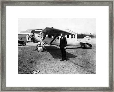 America Pilot Charles Lindbergh Framed Print by Everett