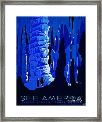 America Tourism Poster 1939 Framed Print by Padre Art