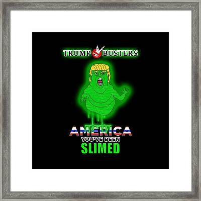 America, You've Been Slimed Framed Print by Sean Corcoran