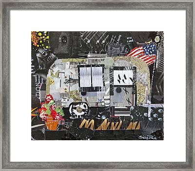 American Air Stream Framed Print by Suzy Pal Powell