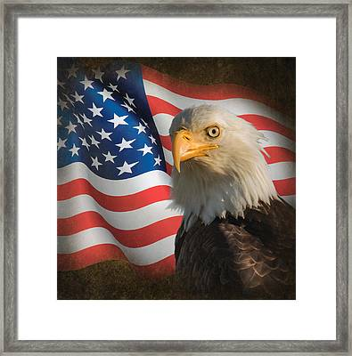 American Framed Print by Angie Vogel
