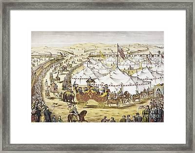 American Circus, C1874 Framed Print by Granger